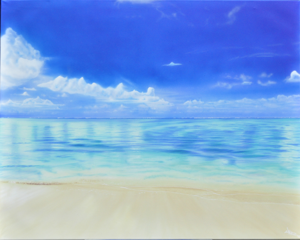 Airbrushed Fine Art landscape Painting
