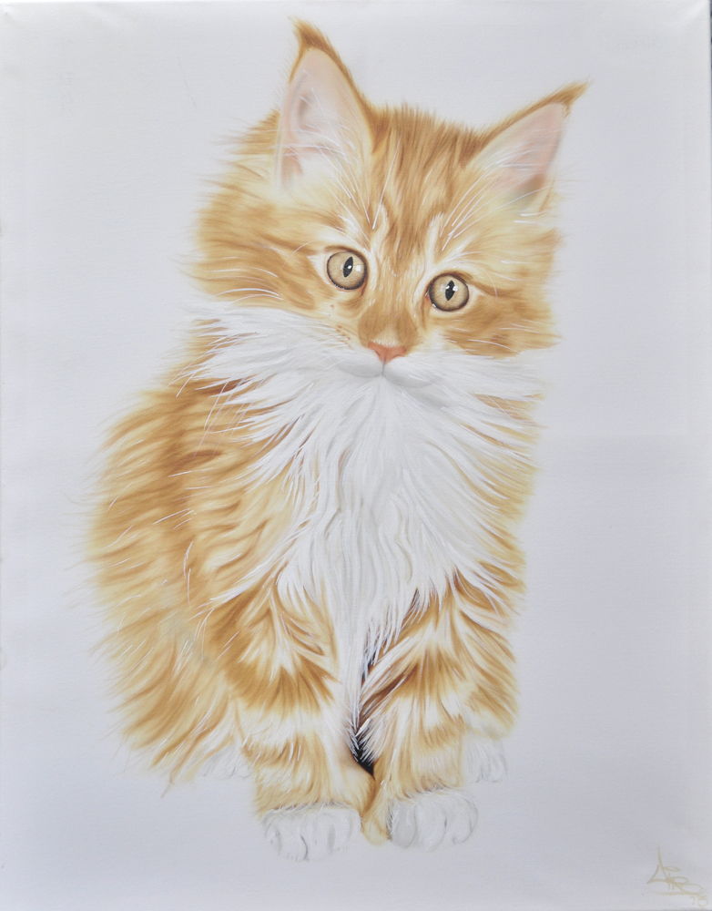 Airbrushed Fine Art Pet Portrait Painting