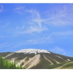 Fine Art Landscape Painting Sun Peaks