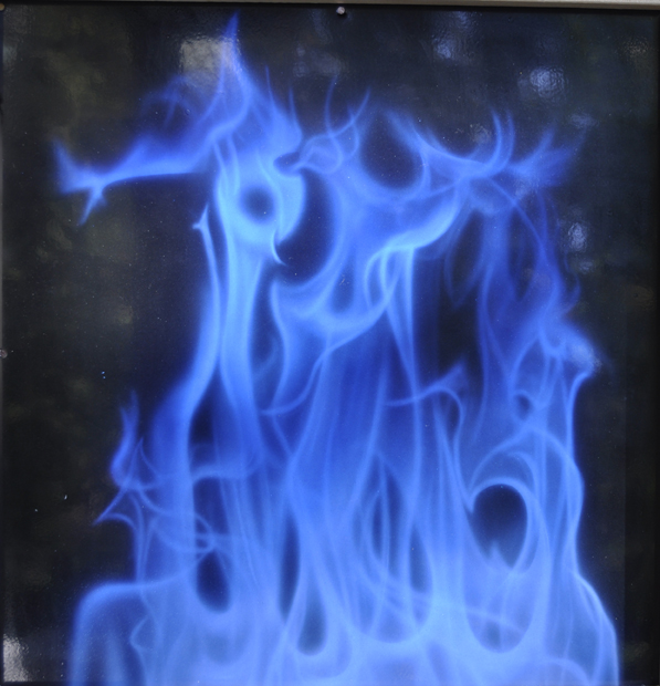 True fire in blue Panel