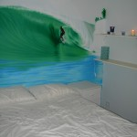 Surfing wall mural bedroom
