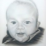 Airbrushed portrait painting