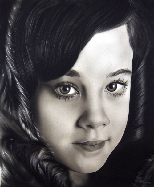Gaby Airbrushed Portrait Painting